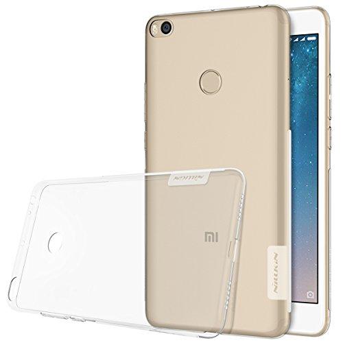 Nillkin Nature- Funda Xiaomi Mi Max 2, Carcasa trasera Mi Max 2 Protector Bumper Antideslizante de Gel TPU para Xiaomi Mi Max 2 Ultra Slim Cover Case - Transparente