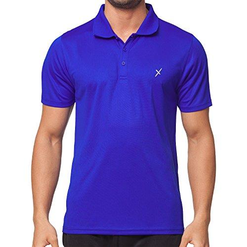 CFLEX Herren Sport Shirt Fitness Polo-Shirt Sportswear Collection - Royal L