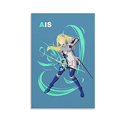Anime Ais Wallenstein Espada Princesa Primera Clase Aventurero Impresiones en lienzo Póster y arte de la pared Impresión moderna para dormitorio familiar carteles 20 x 30 cm