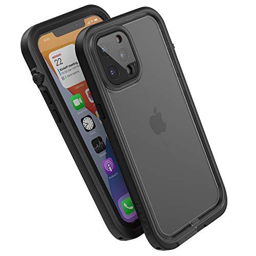 Catalyst Funda impermeable para iPhone 12 Pro Max de 30 pies, a prueba de caídas, parte trasera transparente, compatible con fundas Crux Accesorios, color negro