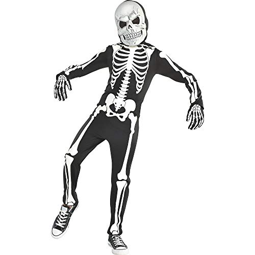 amscan Glow in The Dark X-Ray Skeleton Costume Medium (8-10)- 3 pcs., Multicolored