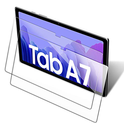 [2 Pack] Screen Protector for Samsung Galaxy Tab A7 10.4 2020 (SM-T500/T505/T507), Anti-Scratch/HD Clear/No Bubble/9H Hardness Tempered Glass Screen Protector for Samsung Galaxy Tab A7