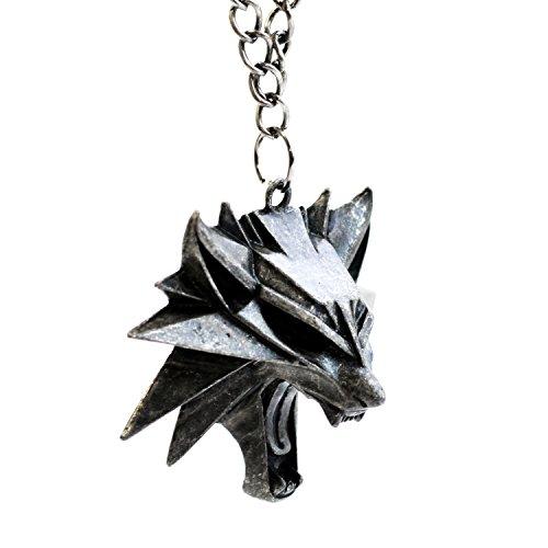 The Witcher 3Wild Hunt- Wilder Wolfskopf Anhänger / Medaillon- Videospiel-Memorabilia für Herren