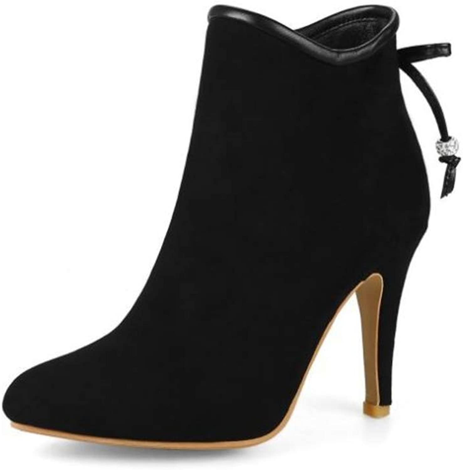 Edv0d2v266 Women's Ankle Boots Closed Pointed Toe Stilettos Autumn Dress Booties