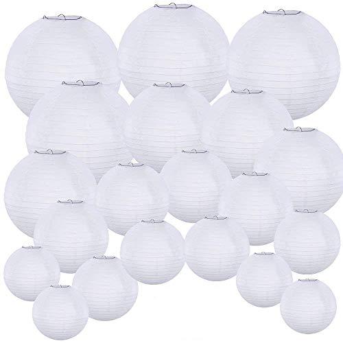 Supla 20 Pack Chinese White Paper Lantern