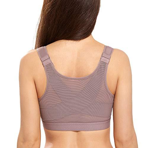 DELIMIRA - Sujetador Corrector de Postura con Soporte de Espalda en X para Mujer Mochaccino 90C