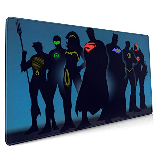 Superheros Justice League Mouse Pad Rectangle Non-Slip Rubber Electronic Sports Oversized Large Mousepad Gaming Dedicated,for Laptop Computer & PC 15.8X35.4 Inch