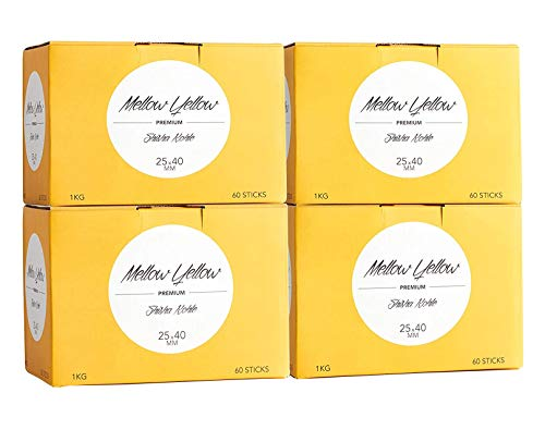 MELLOW YELLOW Shishakohle 4 kg,  Hexagon Sticks 25x40mm, Premium Kokos-Naturkohle