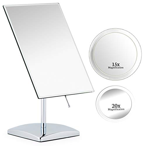 Mirrorvana Premium Rectangular Vanity Table Mirror with Stand in Gift Box and -