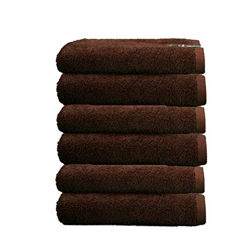 ADP Home - Toallas De Tocador Calidad De 100% Algodón Peinado 550 Grms Pack De 6 Unidades - Color - chocolate - Talla - 30x50 cm