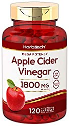 APPLE CIDER VINEGAR CAPSULES: Enjoy a natural kickstart to your health journey today! OPTIMAL ABSORPTION Delivers 1800mg per serving of Apple Cider Vinegar through Quick-Release Capsules ADVANCED FORMULA: This ingredient is well renowned as a natural...