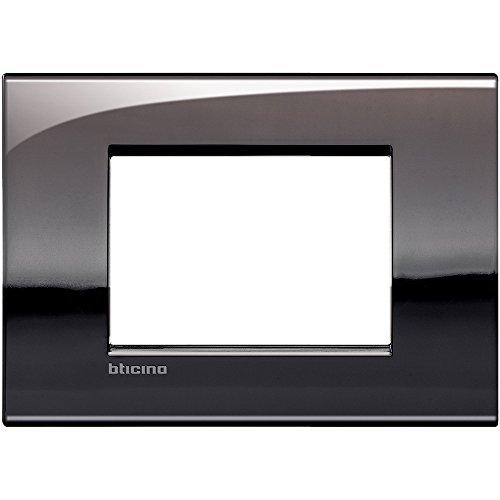 Legrand/Bticino – Plaque interrupteur 3 postes, en étain