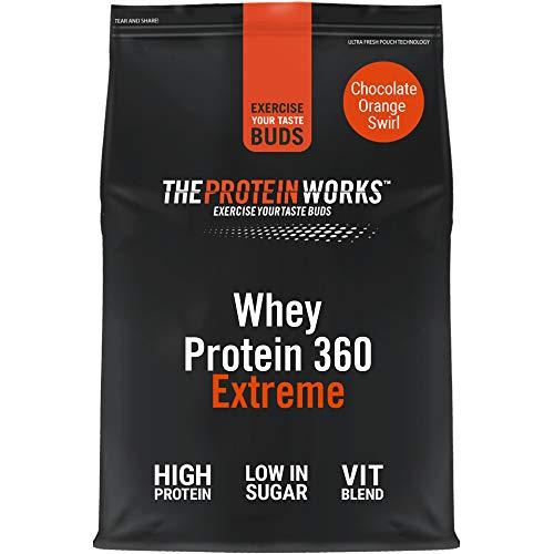 THE PROTEIN WORKS Whey Protein 360 Extreme Protein Powder | High Protein Shake | With Glutamine, Vitamins & Minerals | Protein Blend | Choc Orange Swirl | 600 g