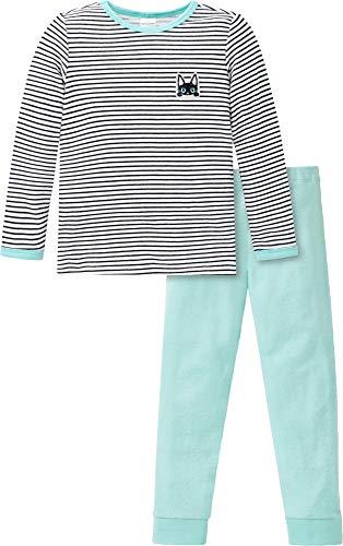 Schiesser Kinder-Schlafanzug Natural Love Mint Größe 104