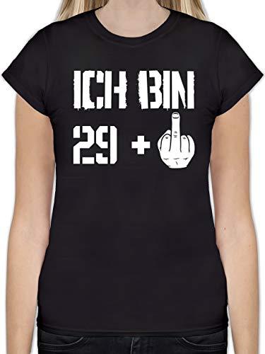 Geburtstag - Ich Bin 29 + - XXL - Schwarz - L191 - Tailliertes Tshirt für Damen und Frauen T-Shirt