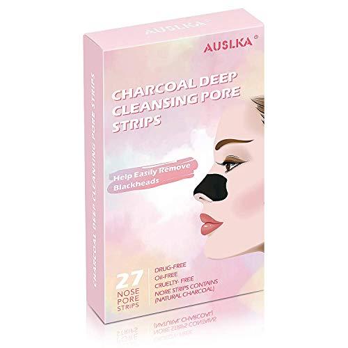 Nasenflaster Clear-Up Strips, 27 Stück, Streifen zum Mitesserentfernen Streifen Tiefenreinigend Streifen, mit Aktivkohle…