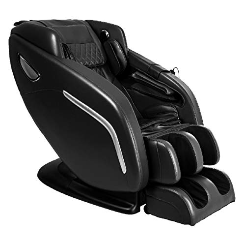 """TITAN REGAL 2 Electric Full Body Massage Chair, Body L-track Massage Function, Space Saving Technology - need 6"""" from the wall. Zero Gravity, Unique Foot Roller, Deep Tissue Massage, (Black)"""