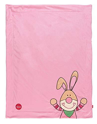 sigikid, 41558 Enfant Fille Couverture Microfibre 100x75 cm, Bungee Bunny Rose