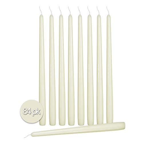 Ner Mitzvah - Velas cónicas (100 unidades, sin goteo, sin perfume, cera de parafina con mechas de algodón)