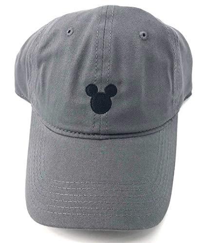 Monogram Disney Adult Mickey Mouse Silhouette Grey Baseball Cap Hat Small
