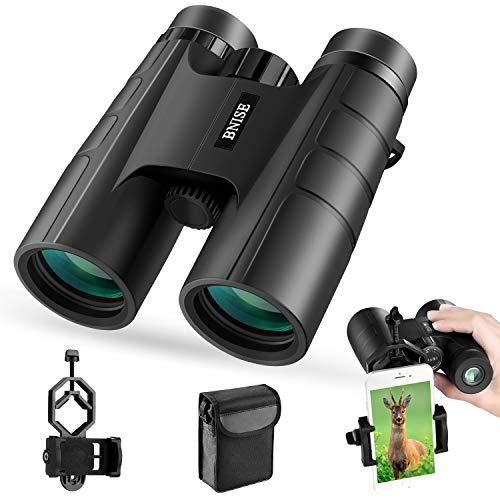 BNISE Ferngläser, Fernglas Kompakt, 10X42 HD, vogelbeobachtung BAK4 Prism FMC, Geeignet für Vogelbeobachtung, Jagd und Konzerte, mit Smartphone