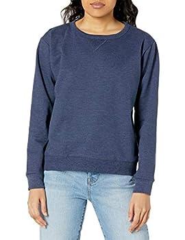 Hanes Women s V-Notch Pullover Fleece Sweatshirt Navy Heather Medium