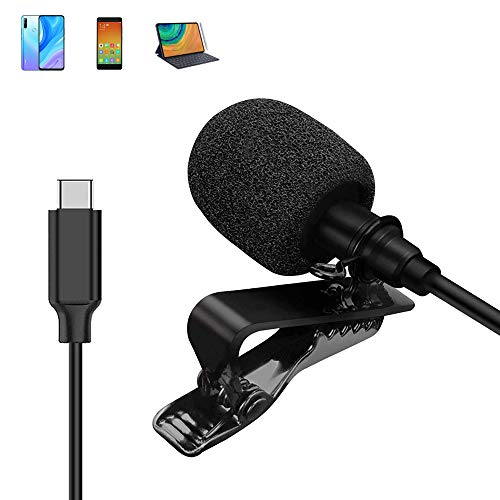 Comica CVM-V01SP(UC) USB C Omnidirectional Lavalier Lapel Microphone for Samsung Huawei Google Type C Devices, Portable Clip-on Mic for YouTube,TikTok,Interview, Live-Stream, Video Conference(8.2 ft)…