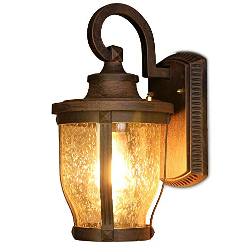 DC Wesley Europea retro impermeable al aire libre lámpara de pared al aire libre lámpara led estilo villa balcón puerta fachadas lámpara de pared 32 * 20 * 19cm
