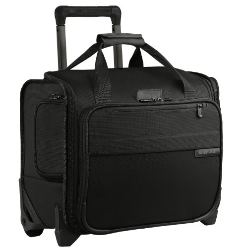 Briggs & Riley Baseline-Softside Rolling Cabin Upright Bag, Black, Underseater 16-Inch