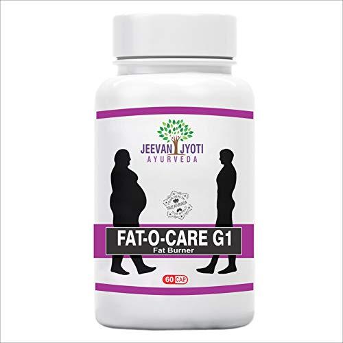JEEVAN JYOTI AYURVEDA FAT-O-CARE G1 | 100% Organic, Natural & Ayurvedic Weight Loss for Men & Women | Helps in Weight Management – 60 Capsules