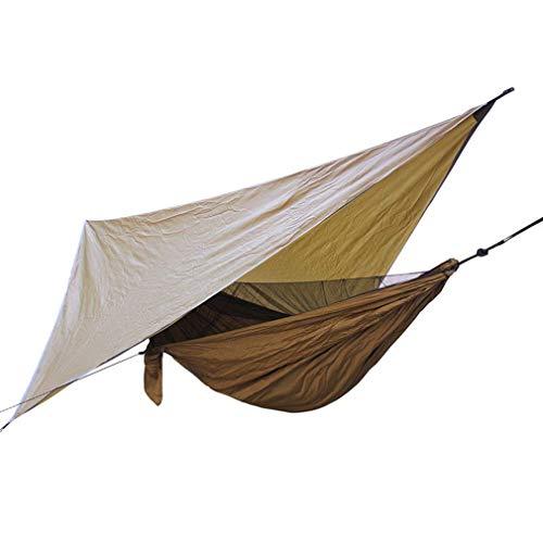 XHLLX Hamaca de camping portátil con mosquitero lluvia mosca, hamaca toldo de nylon hamacas individuales y doble hamaca senderismo