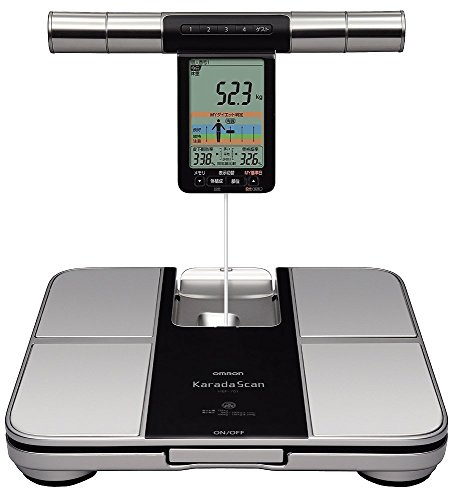 Omron HBF 701 Karada Scan Complete Digital Body Composition Monitor With Graphical Interpretation To Monitor BMI (Silver Grey)