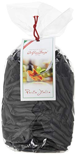 Wolfram Berge Schwarze Tintenfisch-Lockennudeln aus Apulien, 2er Pack (2 x 500 g)