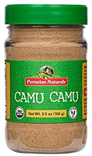 Organic Camu Camu Powder 3.5oz (100g) - Peruvian Naturals | Certified-Organic, Powerful Vitamin C Supplement and superfood …