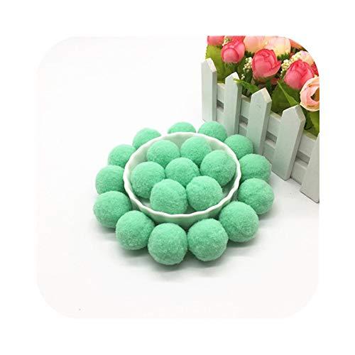 Happy-Boutique - Pompón de piel (100 unidades, 10 mm, 15 mm, 20 mm, 25 mm, 30 mm, suave y blanda)