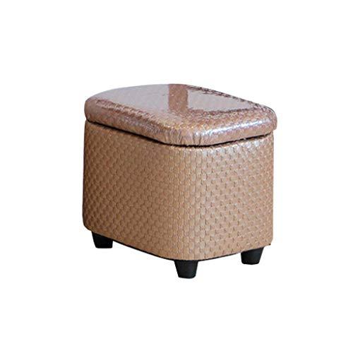 YLCJ schoenenkoffer met voetensteun, gevoerd, van hout, voor toiletkleding, schminkkruk, zitting, met kussen van koffie, voor hal   Woonkamer Max, 150 kg (grootte: 40 x 33 x 37 cm) 31x25x27cm