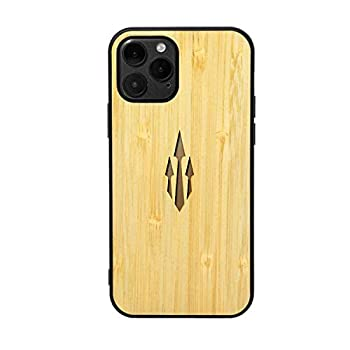 Tattoo Trends Poseidon Trident Tattoo  Bamboo - iPhone 12 Pro Max  - iPhone 12 Carbon Wooden Luxury Shockproof Case - Slim & Lightweight Carrying Protective Phone Case- Designed for Apple iPhone