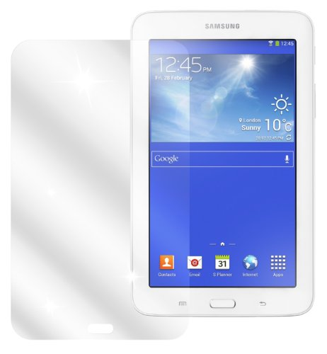 dipos I 2X Schutzfolie klar kompatibel mit Samsung Galaxy Tab 3 Lite Folie Bildschirmschutzfolie