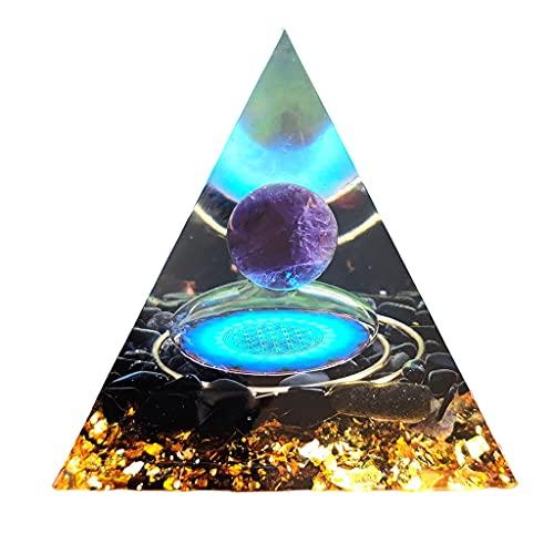 F Fityle Decoración de de Cristal de Amatista curativa, Adornos de Piedras Preciosas, figurita de meditación, energía Positiva, Sala de Estar,