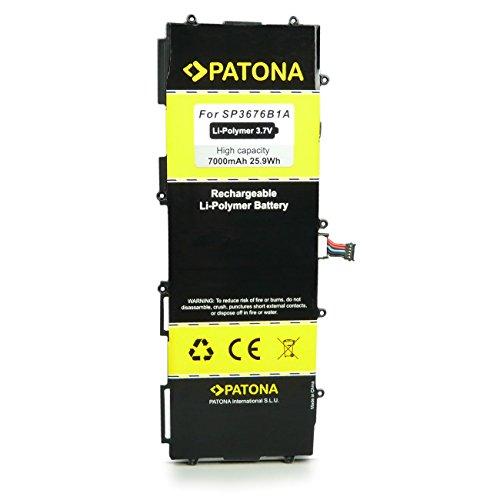 PATONA Bateria SP3676B1A Compatible con Samsung Galaxy Note 10.1 GT-N8000, Galaxy Tab 10.1 GT-P7100, Galaxy Tab 2 10.1 P5100