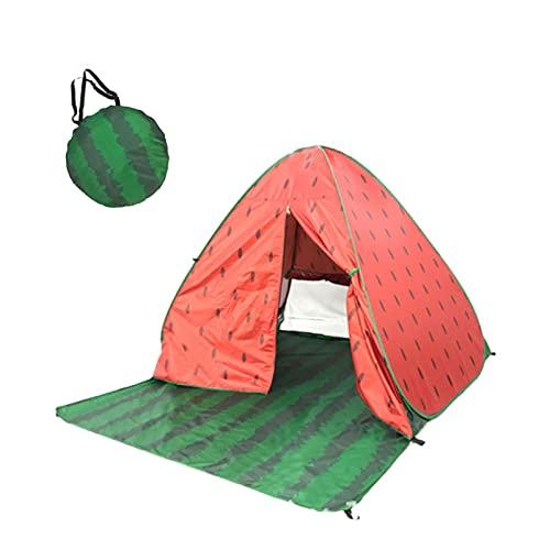ZLOP Refugio de playa, portátil, extra ligero, portátil, tienda de campaña para exteriores, protección UV, tienda de playa para familia, playa, jardín, camping (1 unidad, naranja)