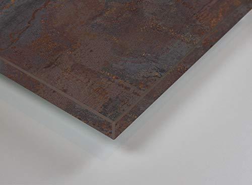 MySpiegel.de Tischplatte Holz Zuschnitt nach Maß Beschichtete Holzdekorplatte (120 x 70 cm, Rusty Iron)