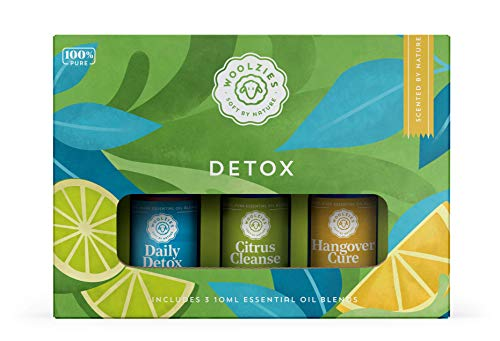 Woolzies 100% Pure Detox Essential Oil Set of 3 | Incl. Daily Detox, Citrus Cleanse, Hangover Cure | Supports Healthy Liver Function, Elimination, Body System Purification & Detoxification