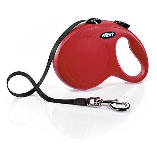 FLEXI New Classic Retractable Dog Leash (Tape), 16 ft, Large, Red