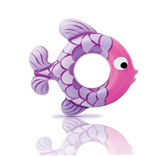 Salvavidas inflable anillo axilas anillo flotante de piscina pez flota piscina Flotador inflable del tubo del anillo del flotador con Rapid Válvulas duradero piscina Floaties fiesta en la piscina