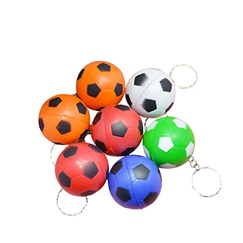 Toyvian 24Pcs Portachiavi Calcio Portachiavi Portachiavi Pendente Portachiavi Giocattoli per Bambini Scuola Sport Ricompensa Borsa Ornamenti Appesi (Colore Casuale)