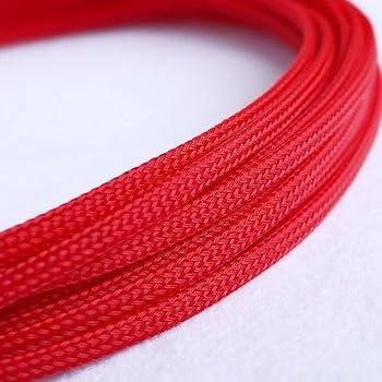 5/m lungo 6/mm largo verde nylon intrecciato elastico espandibile manicotto cavo cablaggio viola