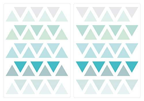 dekodino® Wandtattoo Pastell Dreiecke in modischen Farben 70 Stück Jugendzimmer