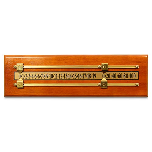 Jonny 8 Ball SOLID ASH Wooden Snooker Scoreboard for 2 Players with Brass Markers and Rails 175 Inch
