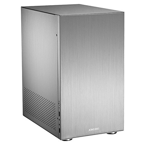 Cooltek C3 HTPC Plata Carcasa de Ordenador - Caja de Ordenador (HTPC, PC, Aluminio, Micro-ATX,Mini-ITX, Plata, 17,5 cm): Amazon.es: Informática